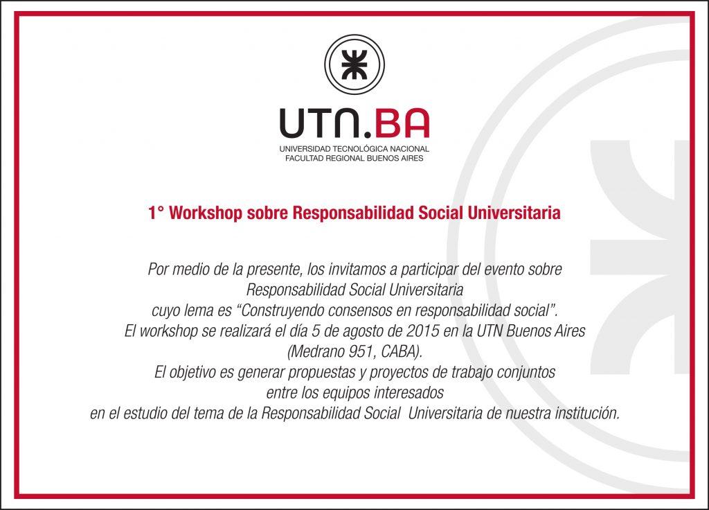 Invitación Institucional RSU UTN Buenos Aires